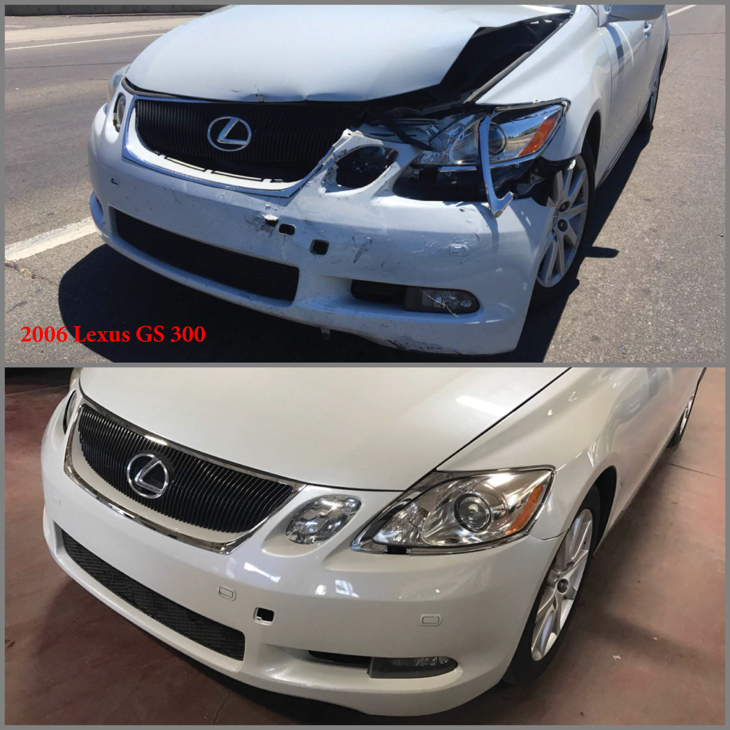Lexus GS 300 Repair Paint Job RideShare Program