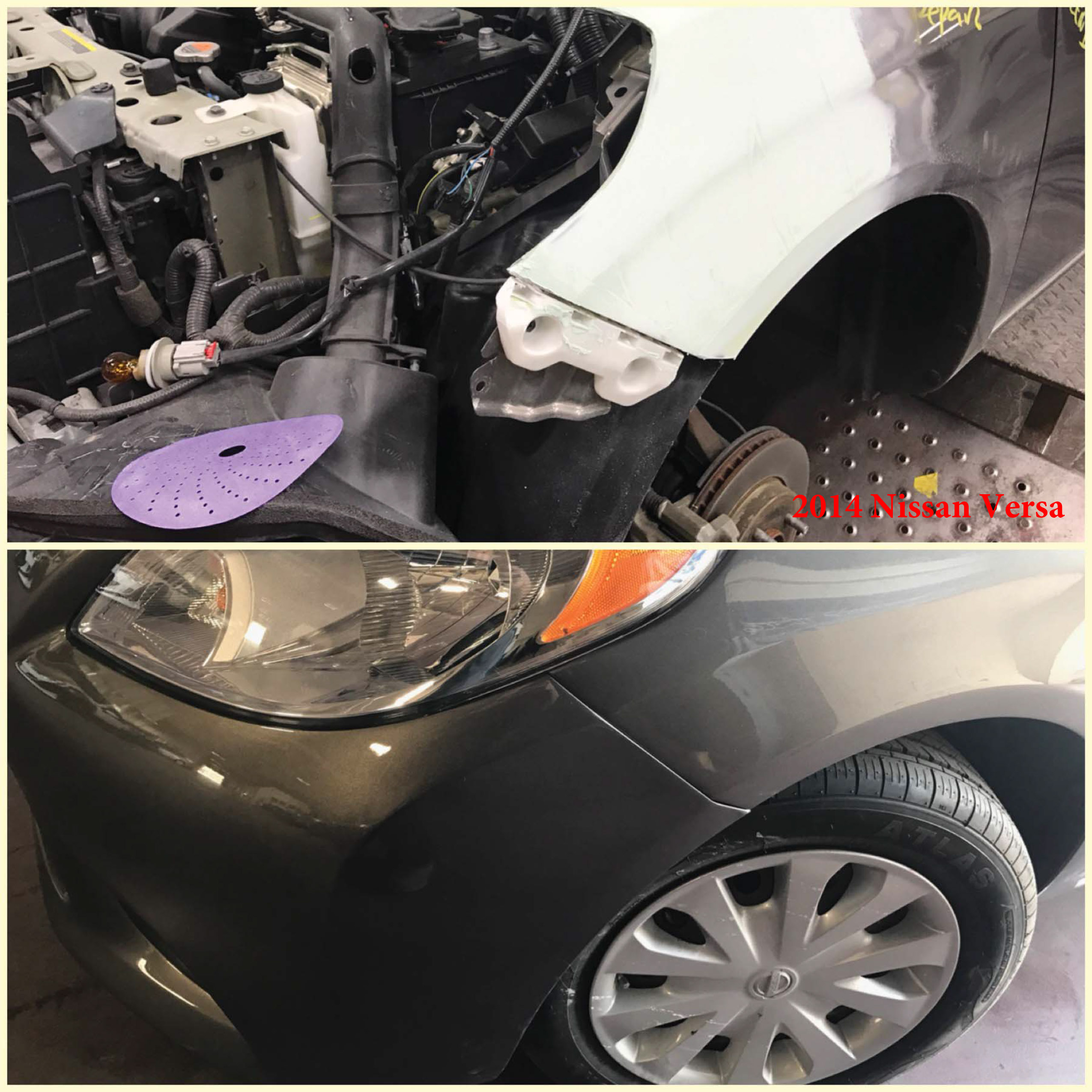Nissan Versa Repair Paint Job RideShare Program